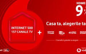 Vodafone introduce pachetul Home Deal, cu beneficii gratuite, la alegere