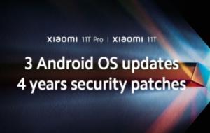 Xiaomi 11T și 11T Pro vor primi trei actualizări majore pentru sistemul Android